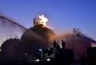 """سانا: حريق في """"مصفاة حمص"""" للنفط نتيجة تسريب من إحدى المضخات"""