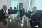 تيسير خالد يبحث مع السفير المصري أخر التطورات السياسية
