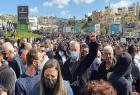 بركة يحيى آلاف المتظاهرين في أم الفحم ويدعو لتصعيد النضال