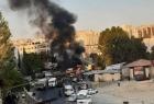 """سانا: إصابات بتفجير """"باص مبيت عسكري"""" عند مدخل مساكن الحرس بالعاصمة السورية"""