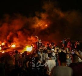 قوات الاحتلال تطلق الرصاص المطاطي صوب المتظاهرين في فعاليات الإرباك الليلي في بيت دجن