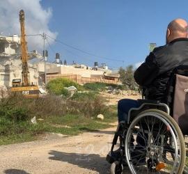 """جيش الاحتلال يهدم منزل لعائلة """"أبو ريالة"""" شرق القدس- صور"""