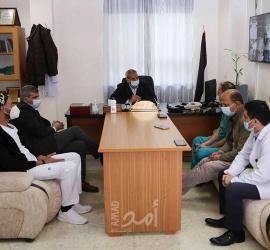 قلقيلية: المحافظ يتفقد مشفى درويش نزال ومشفى الشهيد عمر القاسم