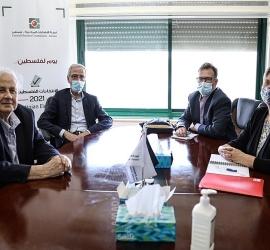 د. ناصر يستعرض مع ممثلة أممية المعيقات الإسرائيلية للعملية الانتخابية