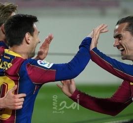 """رقم غير مسبوق لميسي..برشلونة يكتسح خيتافي بخماسية وميسي """" -فيديو"""
