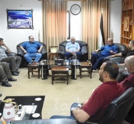 غزة: وكيل النقل والمواصلات يستقبل وفداً من هيئة المعابر