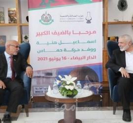 في أول زيارة له..هنية يصل المغرب على رأس وفد قيادي من حماس