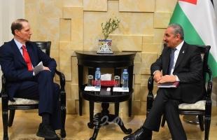 أشتية يطالب فصل العلاقات الثنائية عن المسار السياسي ويدعو الكونغرس الاعتراف بدولة فلسطين