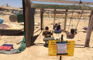 سلطات الاحتلال تصدر أمر هدم لحديقة ألعاب أطفال في النقب
