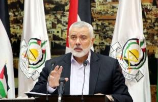 """في رسالته إلى """"عون والحريري"""".. هنية يتضامن مع لبنان ويتمني تجاوزها آثار الحرائق"""