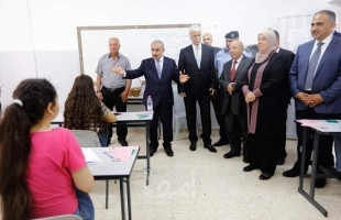 صور .. رام الله: اشتية يتفقد قاعات امتحان الثانوية العامة في بلدة سلواد