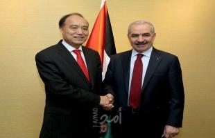 """أشتية يبحث مع """"الدولي للاتصالات"""" العراقيل والصعوبات التي تضعها إسرائيل أمام قطاع الاتصالات الفلسطيني"""