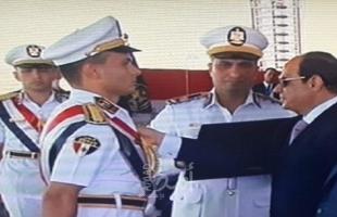 الرئيس المصري يكرم الخريجيين الأوائل الفلسطينيين بإكاديمية الشرطة