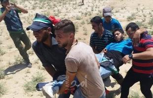 بالصور.. إصابات بينهم صحفي في مسير للشاحنات كسراً للحصار شرق غزة