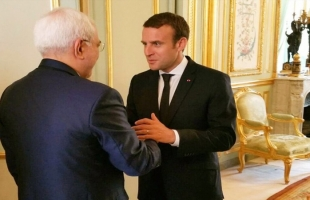 """الرئاسة الفرنسية: محادثات """"ماكرون – ظريف"""" إيجابية وستستمر"""
