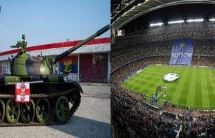 غضب في أوساط كرة القدم الأوروبية بسبب دبابة الملعب