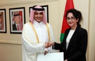 السفير القطري لدى الأردن يسلم أوراق اعتماده
