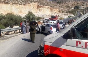 الهلال الأحمر: (4) إصابات في حادث سير بنابلس