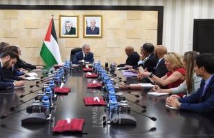 أشتية يدعو الكونغرس للضغط على إدارة ترامب للتراجع عن الخطوات الأحادية بحق الفلسطينيين