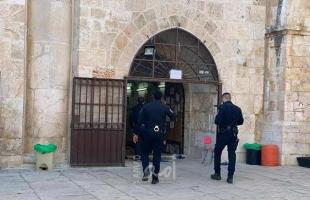"""سلطات الاحتلال تمنع طواقم الأوقاف من إصلاح تشققات قرب """"باب الرحمة"""" في المسجد الأقصى"""