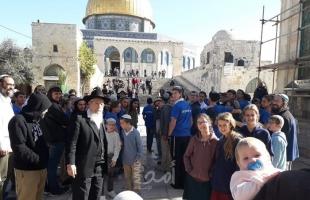 """(62) مستوطناً يقتحمون ساحات """"المسجد الأقصى"""" بحراسة مشددة"""