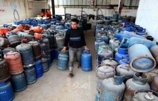 """مالية غزة تكشف لـ """"أمد"""" أسباب ارتفاع سعر أسطوانة الغاز"""