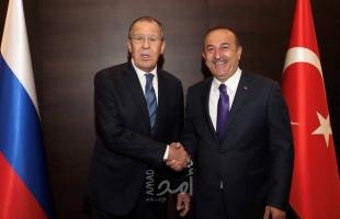 لافروف يبحث مع أوغلو تسوية الأزمة في سوريا