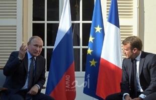 ماكرون: فرنسا تتفق مع روسيا حول عدم قبول الوضع الحالي في إدلب