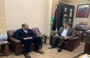دمشق: عبد الهادي يستقبل مدير جمعية الهلال الأحمر الفلسطيني بمقر الدائرة السياسية