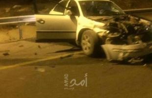 مصرع شاب وطفلة وخمس إصابات بحادث سير ذاتي جنوبي نابلس