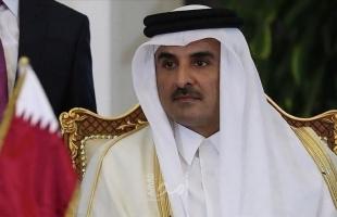 أمير قطر يبحث مستجدات ما بعد وقف العدوان الإسرائيلي مع الرئيس عباس