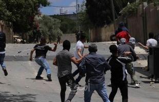اصابة العشرات بالاختناق خلال قمع جيش الاحتلال لمسيرة كفر قدوم الأسبوعية