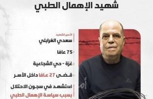 """محدث- فصائل ومؤسسات حقوقية ينعيان """"الغرابلي"""" ويحملان الاحتلال الإسرائيلي المسئولية"""