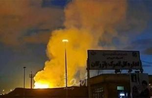طهران: اندلاع حريق كبير في مصنع في مدينة كرج
