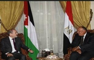 مصر والأردن: ضم أراض في الضفة أمر مرفوض .. ومايجري فى ليبيا تهديد للأمن القومي العربي والمصري
