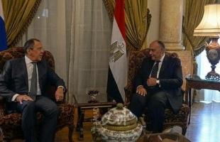 شكري ولافروف يؤكدان أهمية تفعيل الرباعية الدولية والتوصل لإقامة دولة فلسطينية