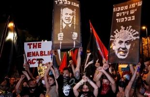 بسبب إدارته أزمة كورونا.. استمرار المظاهرات الليلية ضد نتنياهو - صور