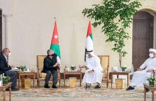 الملك عبد الله وبن زايد: حل الدولتين السبيل الوحيد لإنهاء الصراع الفلسطيني الإسرائيلي