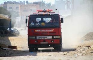 الدفاع المدني يخمد حريق اندلع بأرض زراعية في جباليا-صور