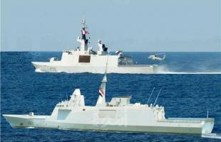 البحرية المصرية والفرنسية تنفذان تدريباً عابراً فى نطاق البحر المتوسط