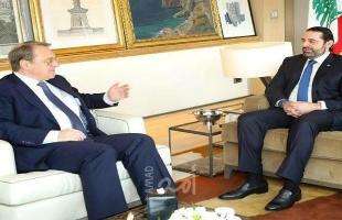 بوغدانوف والحريري يبحثان العلاقات الثنائية والوضع الاقتصادي الذي يعيشه لبنان