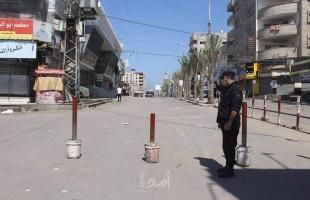سريان حظر التجوال في غزة والتزام واضح من المواطنين بالتعليمات لمنع تفشي كورونا