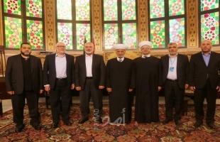هنية يلتقي مفتي لبنان ووفد الحركة الإسلامية