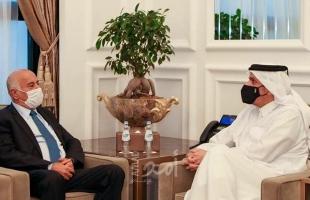 وزير الخارجية القطري يجتمع مع الرجوب في الدوحة