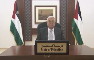الرئيس عباس: متمسكون بالسلام العادل ونتطلع للعمل مع الإدارة الأميركية المقبلة