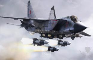 """مقاتلة """"ميج-31"""" الروسية تخوض معركة جوية فى طبقة الستراتوسفير"""