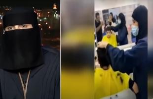 بالفيديو .. أول امرأة تعمل في محل حلاقة بالسعودية