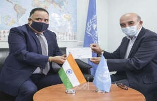 الهند تقدم مليون دولار للأونروا من أجل لاجئي فلسطين