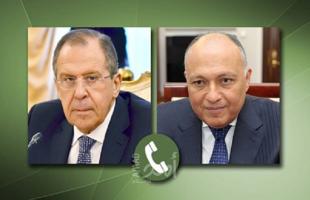 شكرى ولافروف يبحثان هاتفيا تطورات القضية الفلسطينية والأزمة الليبية