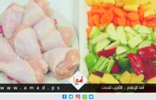 أسعار الخضروات والدجاج في أسواق غزة الثلاثاء